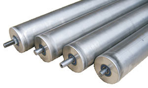 Gravity rollers for heavy loads