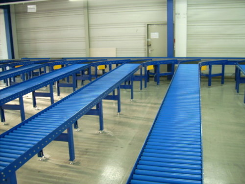 Roller conveyors in internal transport