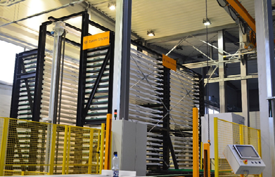 Automatic sheet metal depot