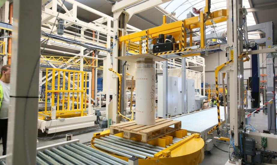 Automated pallet handling system